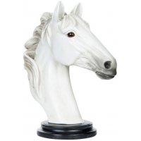 Stående dekorasjon Hesthode - Hvit