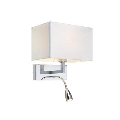 Savoy Vegglampe - Krom/Hvit