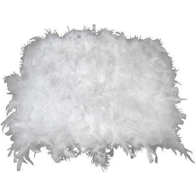 Lampeskjerm rund 45 cm - Hvit (Fjær)