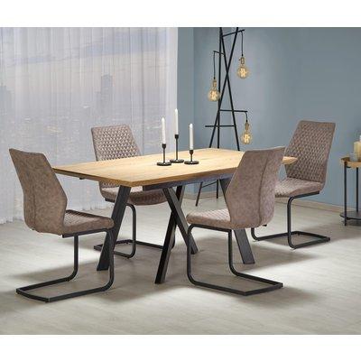 Errol spisebord uttrekkbart - Gull eik/svart