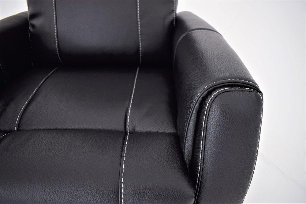Enjoy Elof El Lenestol Fotskammel i svart Eco skinn